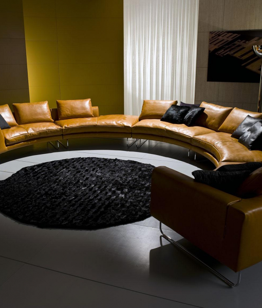 Add Look Round Leather Sofa 517 X 354