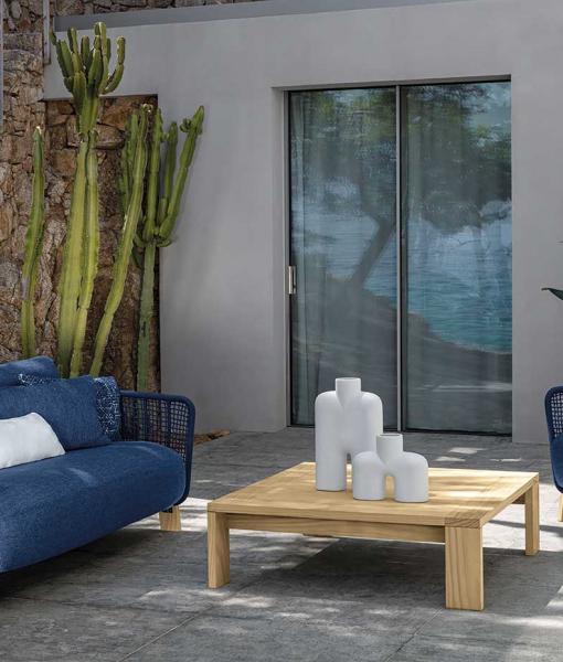 Arco outdoor lounge set in blue ocean colour