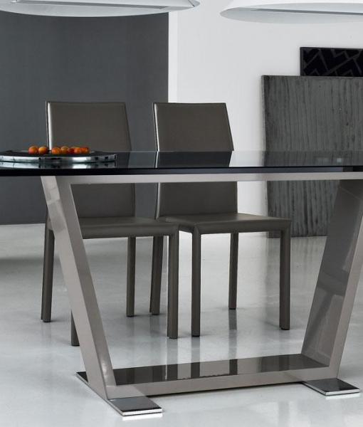 Tavolo Rettangolare In Vetro.Doly Tavolo Rettangolare In Legno E Vetro Italy Dream Design