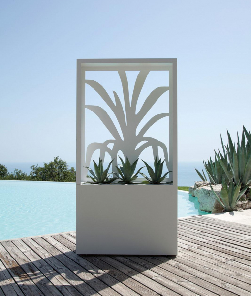 Fioriera outdoor steel planter-agave decoration