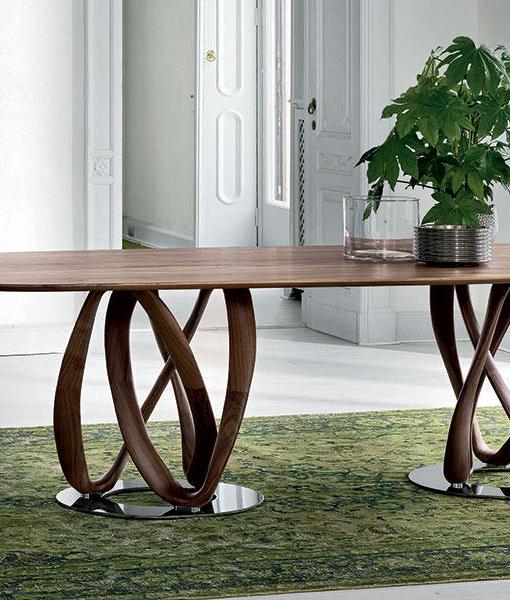 Infinity tavolo da pranzo in massello di noce Canaletto