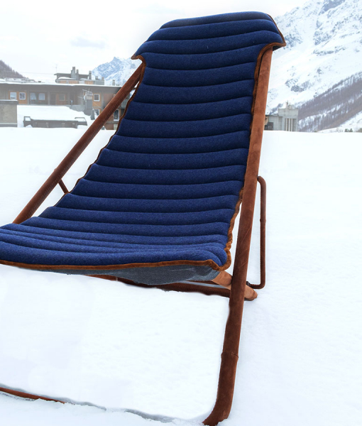 Imperial outdoor deckchair by Umberto Radice