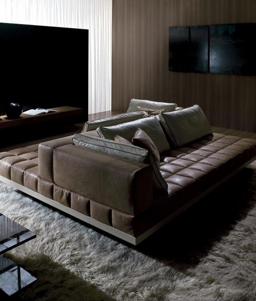Insula divano in pelle 264 x 198