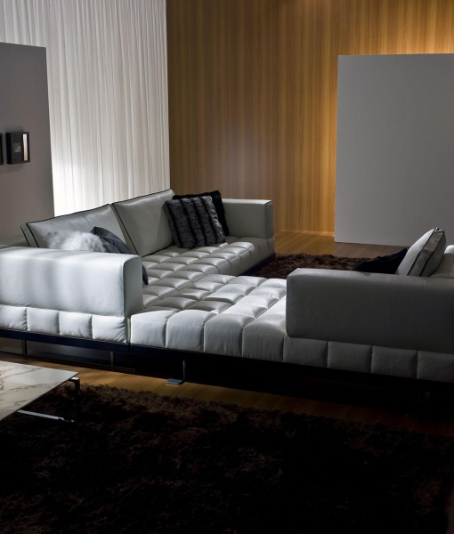 Insula leather sofa 264 x 286