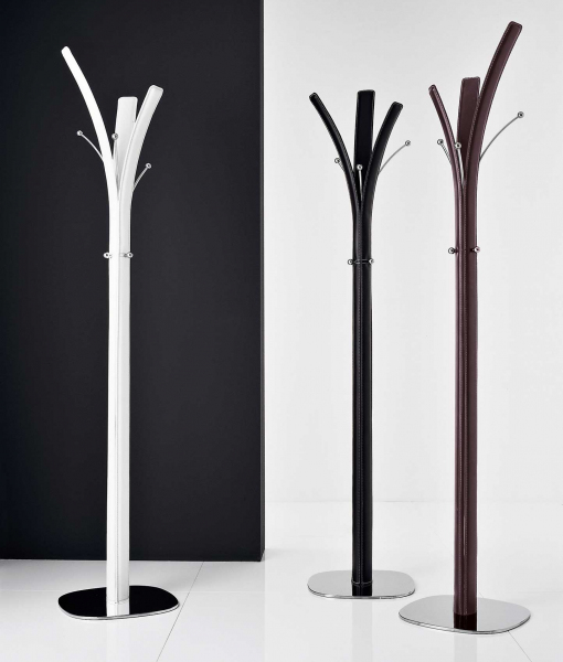 Kimi clothes stand in regenerated leather