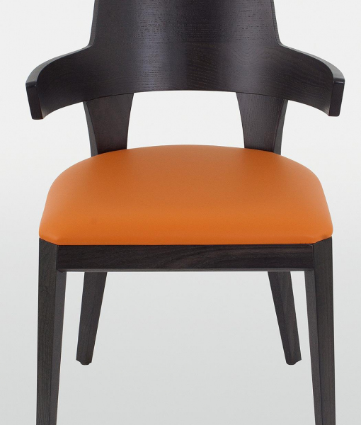 Kyoto padded chair with wenge lacquered frame
