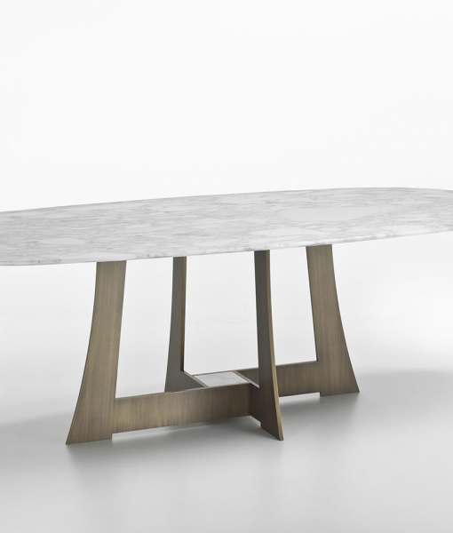 Mia oval dining table