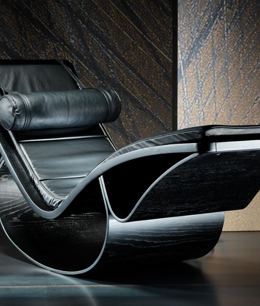 Rio leather chaise lounge by oscar niemeyer shop online for Bellagio 100 leather chaise