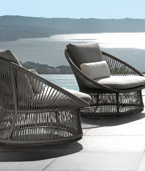Rope outdoor armchairs