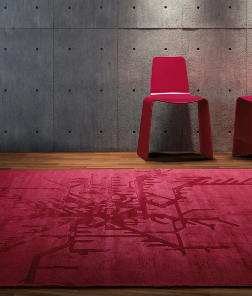 Metropolitan rectangular carpet red
