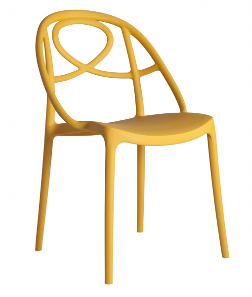 Yellow Arabesque chair