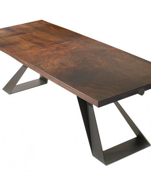 Karma tavolo da pranzo rettangolare in legno e metallo
