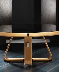 tavolo vetro temperato acciaio satinato trasparente prezzi rotondo cristallo arredamento casa ufficio made in italy lusso qualità sedie salone sala pranzo