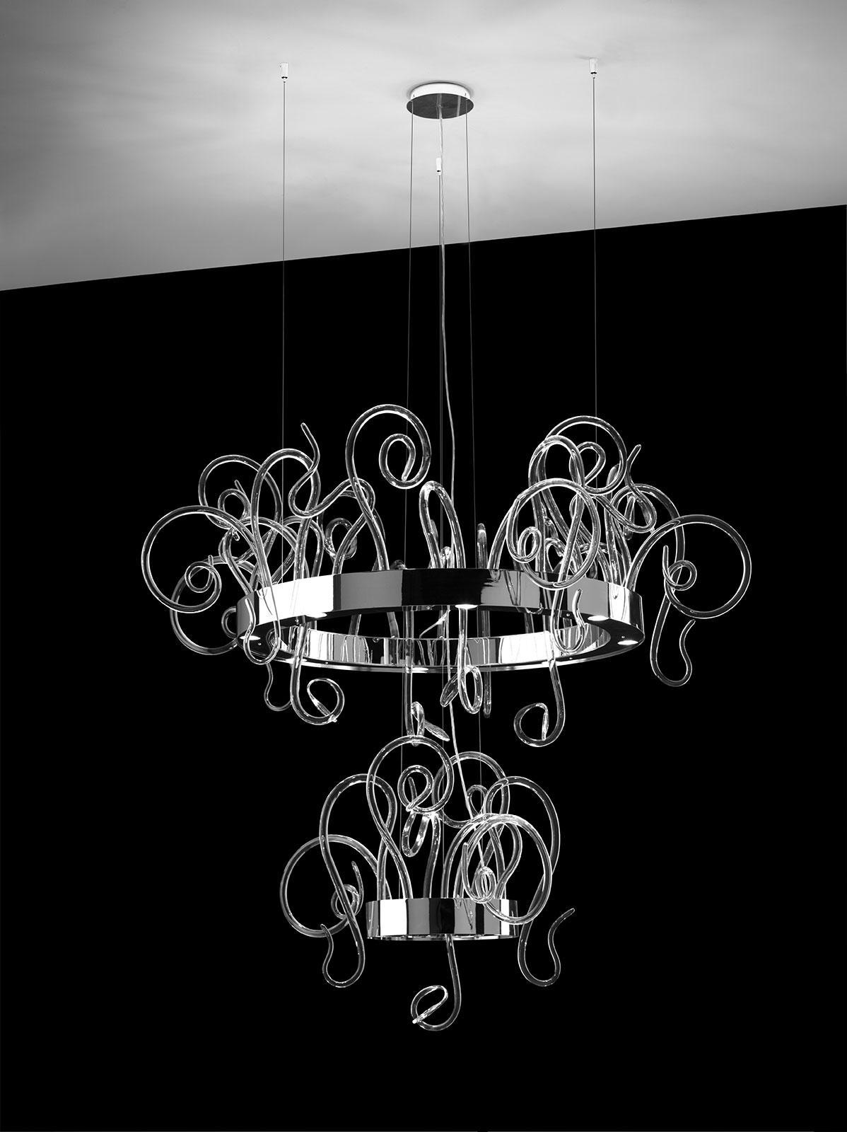 Aspid sospensione in vetro soffiato di Murano - Italy Dream Design