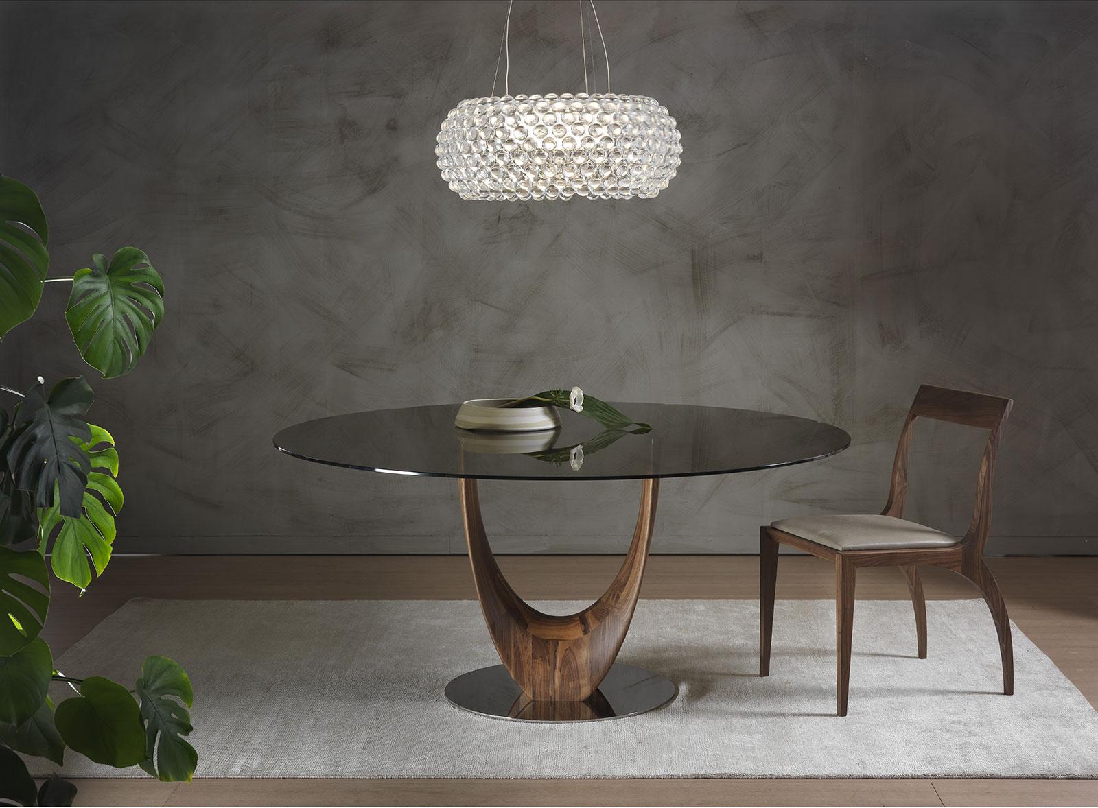 Tavoli Da Pranzo Rotondi In Vetro.Axel Tavolo Da Pranzo Rotondo Italy Dream Design