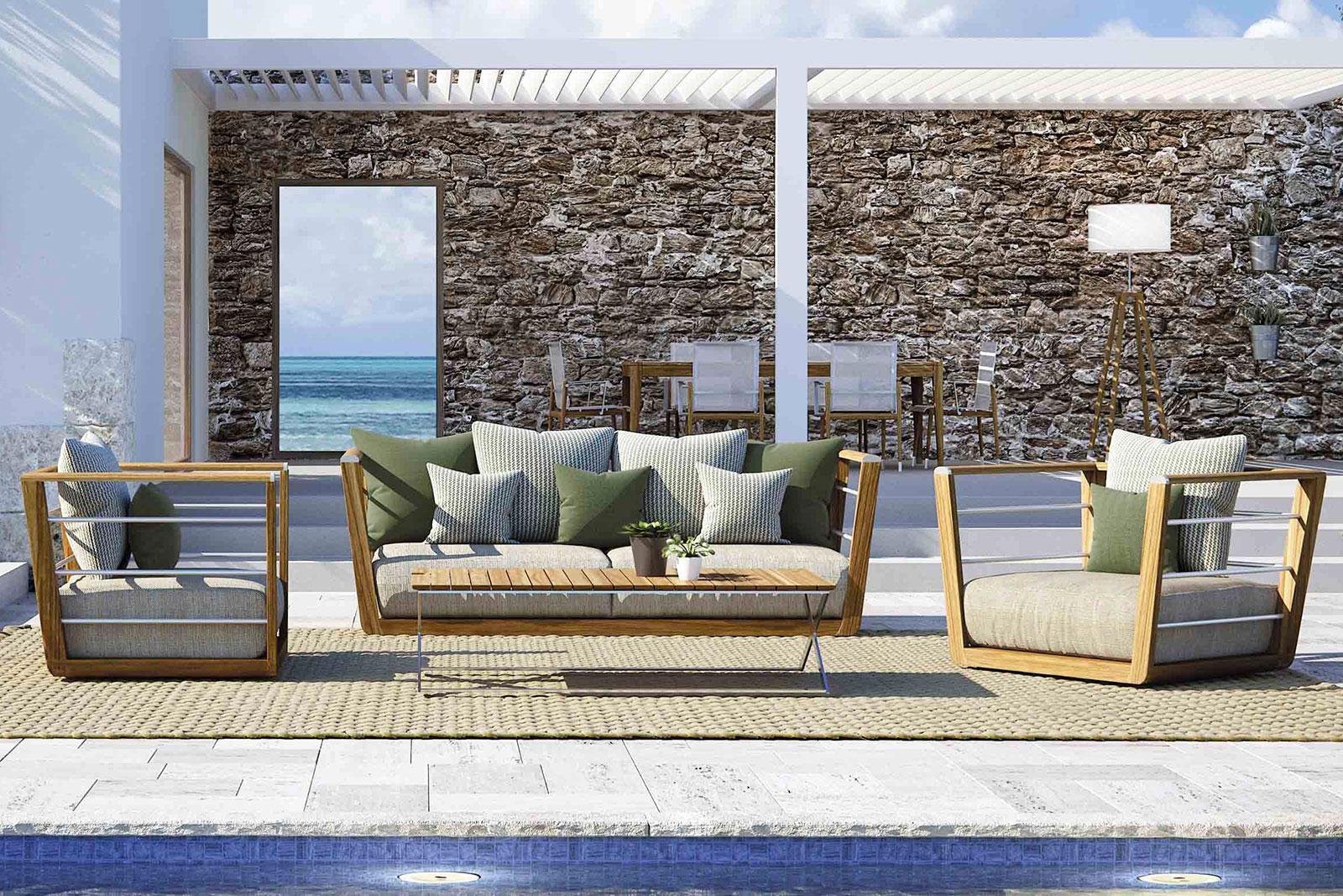Abbraccio salotto da giardino in teak vendita online italy dream design - Salotti da giardino ikea ...