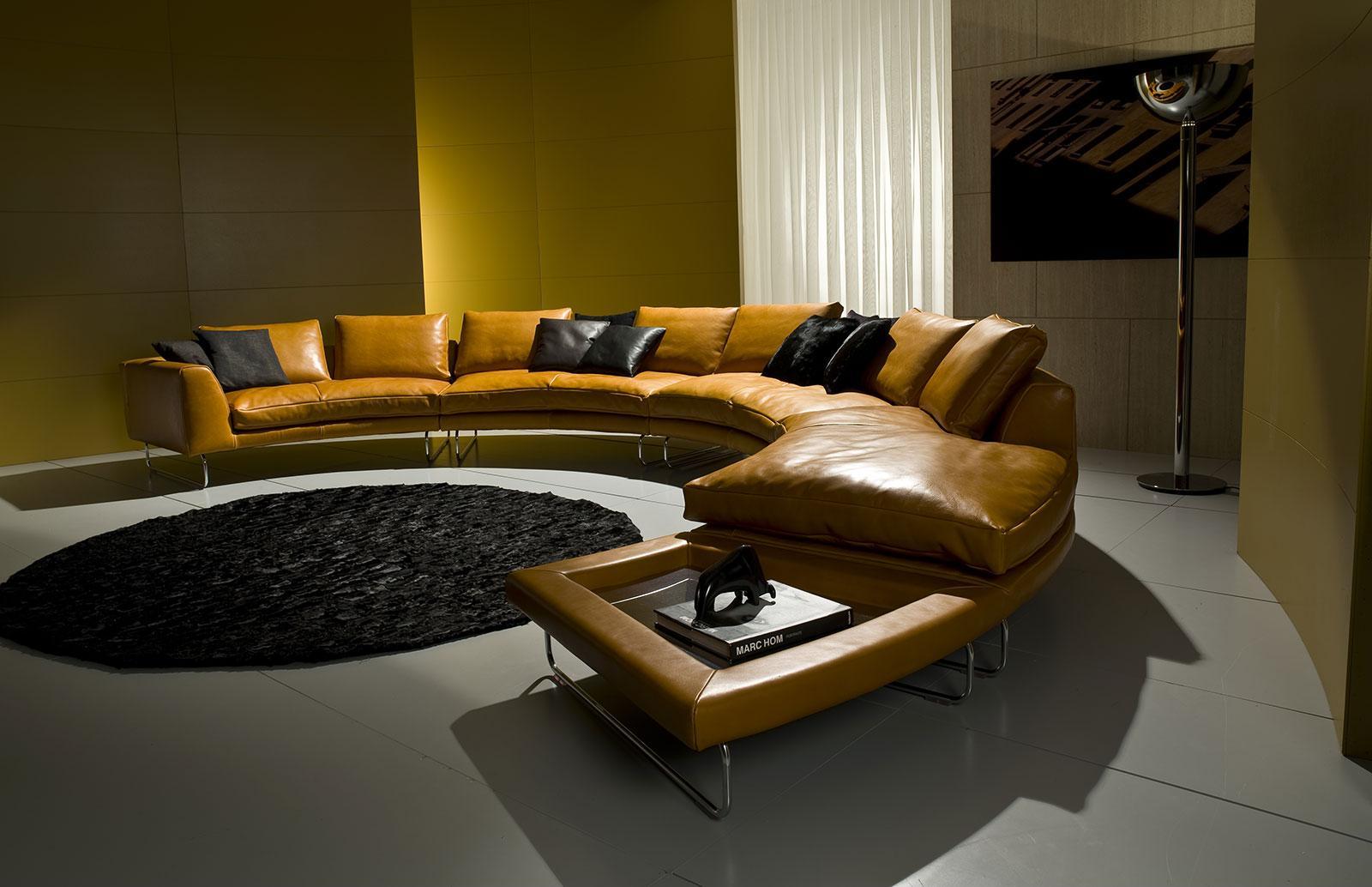 Add Look Luxury Amp Modern Round Leather Sofa Shop Online