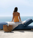 Luxurious and comfortable sunbed in Accoya wood designed by Ludovica & Roberto Palomba. The best outdoor furniture in online shopping and free home delivery