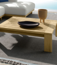 Outdoor lounge in Accoya wood. Design Ludovica & Roberto Palomba. High-quality white fabric coating and quick dry foam. Online shopping and free delivery.