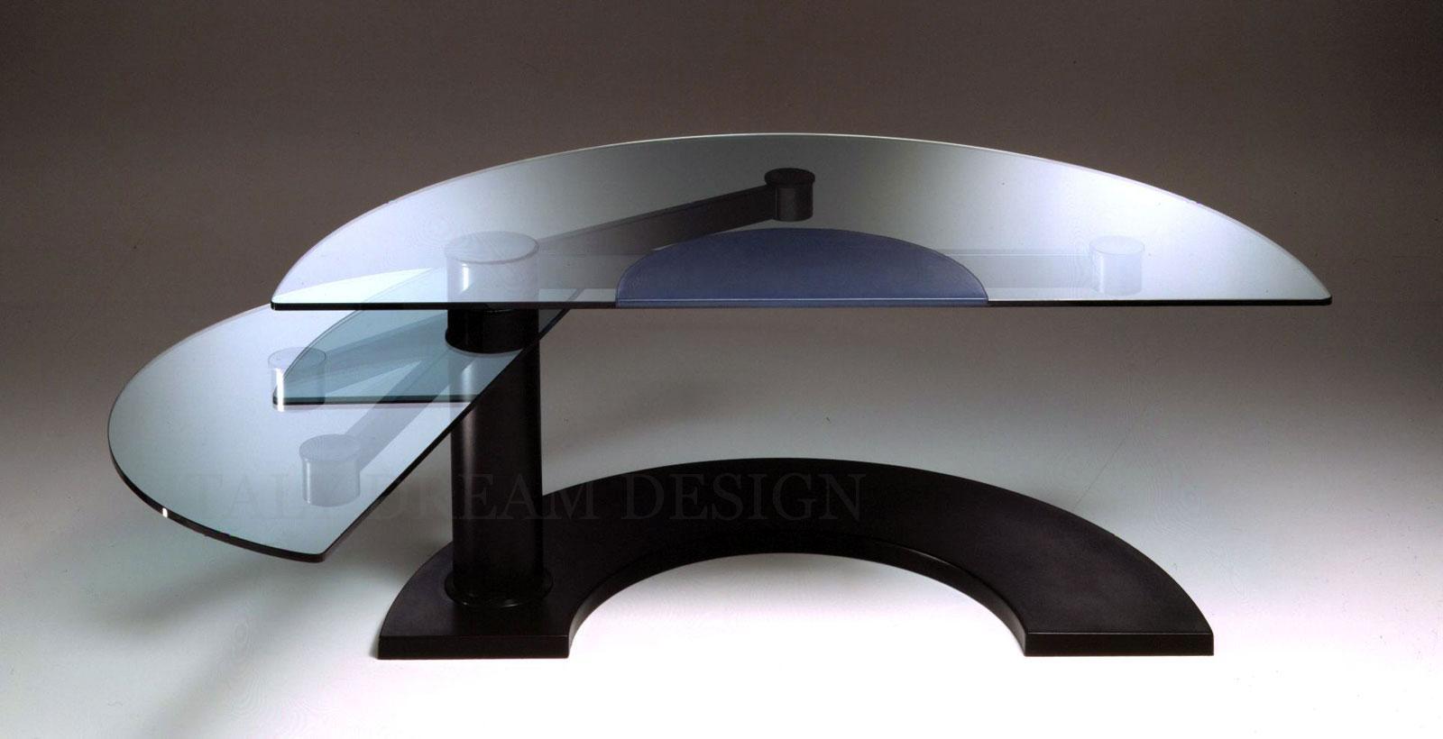 scrivania manageriale Bagarotti arredamento casa ufficio on line moderno di lusso 2017 design web made in italy direzionale cuoio vetro rotante originale