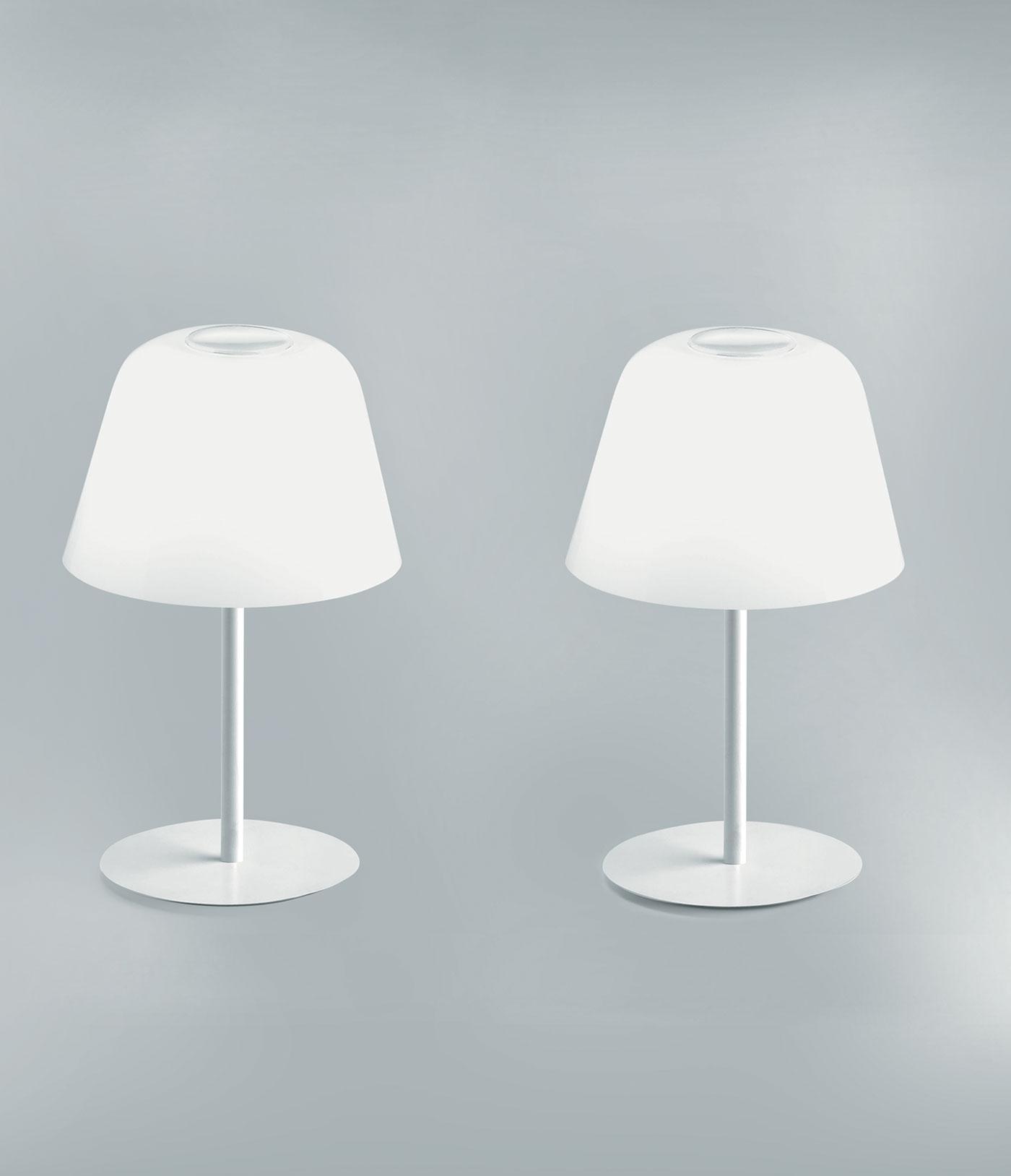 Ayers lampada da tavolo in vetro soffiato bianco italy - Lampade da tavolo in vetro ...