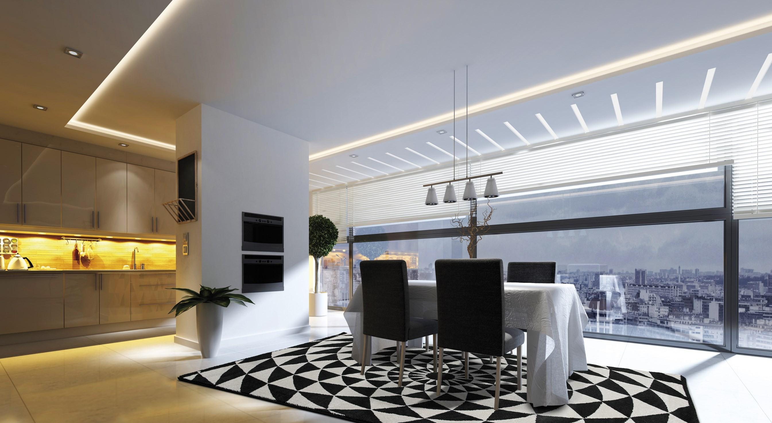 Biancaneve tappeto rettangolare a motivi geometrici bianco e nero