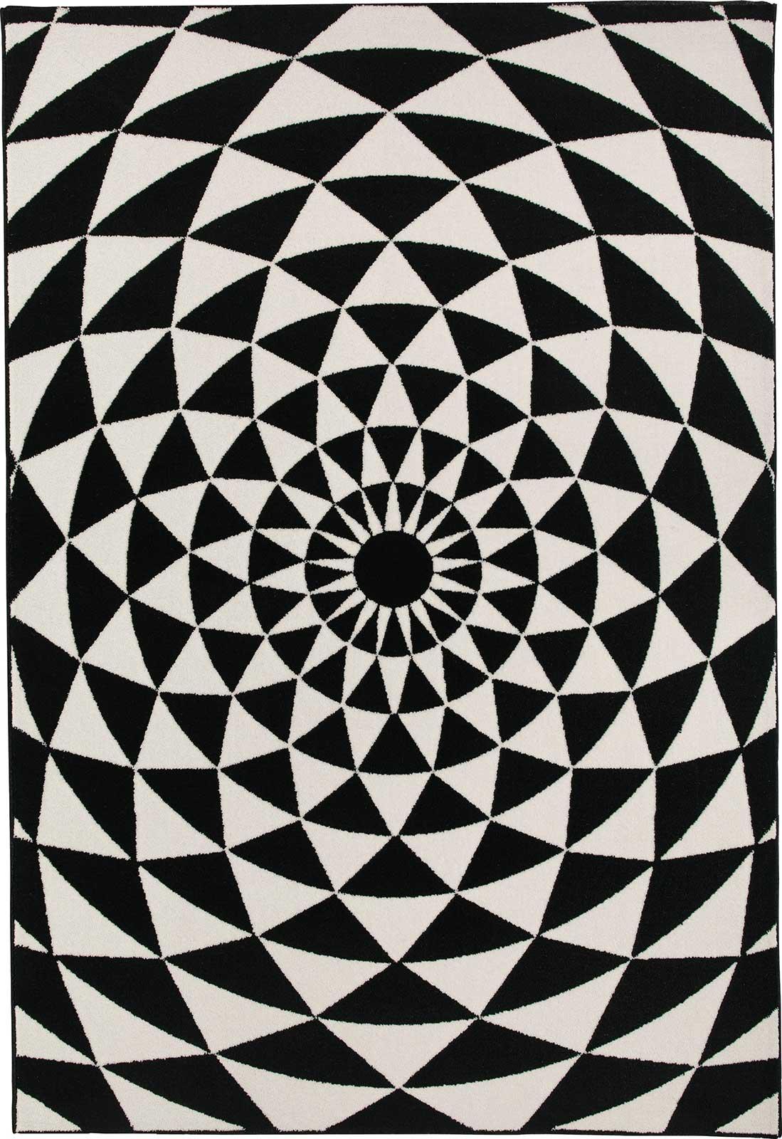 Biancaneve tappeto rettangolare bianco e nero italy - Tappeto bianco nero ...
