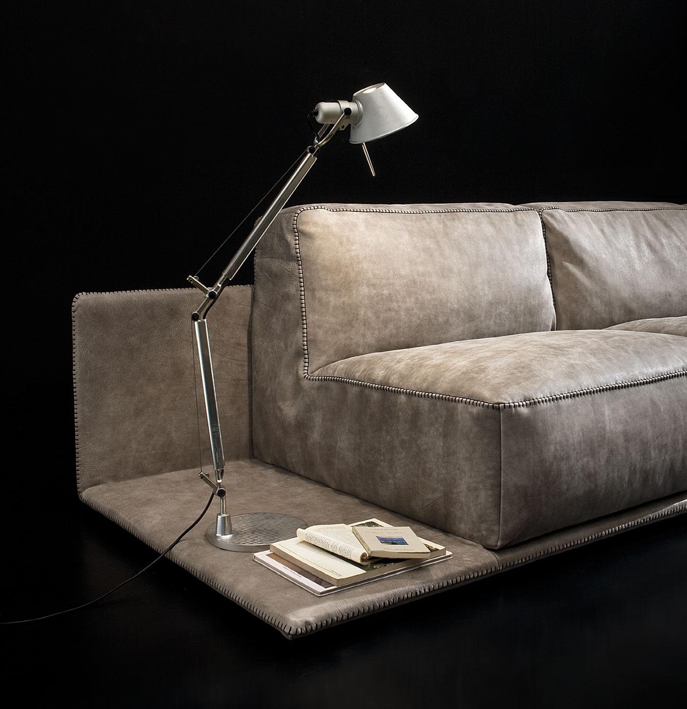 border divano in pelle ad angolo - italy dream design - Angolo Divano In Pelle Nera Divano Sogno Bianco