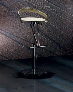 tabouret en polycarbonate design en ligne mobilier meubles design haut de gamme vente site italiens qualité orange noir blanc rouge tournant réglable cuir