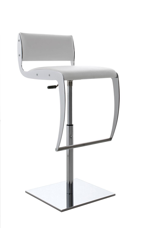 Yuri tabouret de bar tournant et r glable en hauteur idd - Chaise de bar reglable en hauteur ...