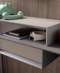 console rectangulaire métal mdf taupe laquée design d'intérieur en ligne mobilier meubles contemporains haut de gamme vente site italiens qualité