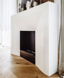 Design by Matteo Italia. Freestanding or recessed bioethanol fireplace made in Italy. Modern reinterpretation of Lewis XVI style fireplaces. Free delivery.