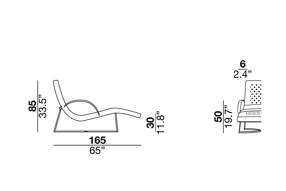 Chaise longue in pelle e metallo. Interamente realizzata a mano in Italia. Vendita online di mobili design di lusso con consegna a domicilio gratuita.