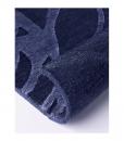Tappeto moderno in lana e seta, rettangolare, colore blu scuro. Vendita online dei migliori tappeti contemporanei e design con consegna gratuita.