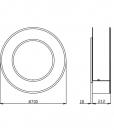 Circle cheminée au bio éthanol ronde - Schéma des dimensions