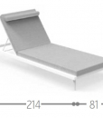 Pure design and high-quality materials. Marco Acerbis created Clariss sunbed in grey colour. Reclinable, stackable, removable cushions. Free home delivery.