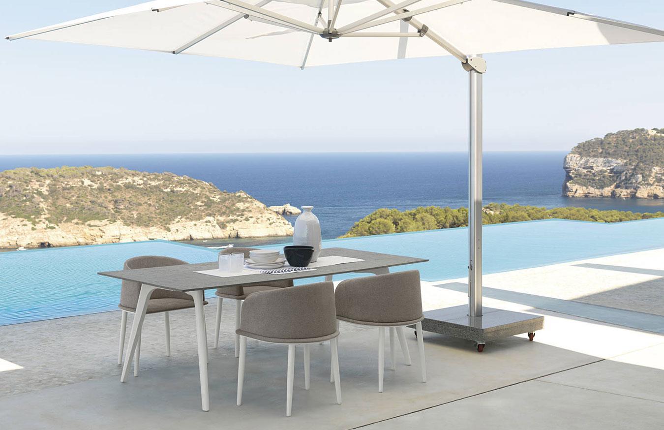 Clariss tavolo rettangolare in alluminio italy dream design for Offerte tavoli da esterno