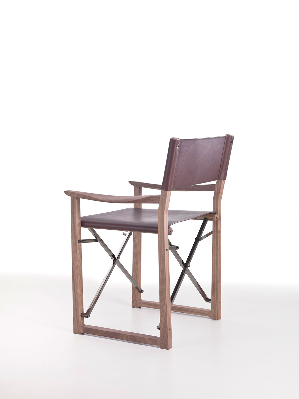 Clip folding director chair in leather IDD