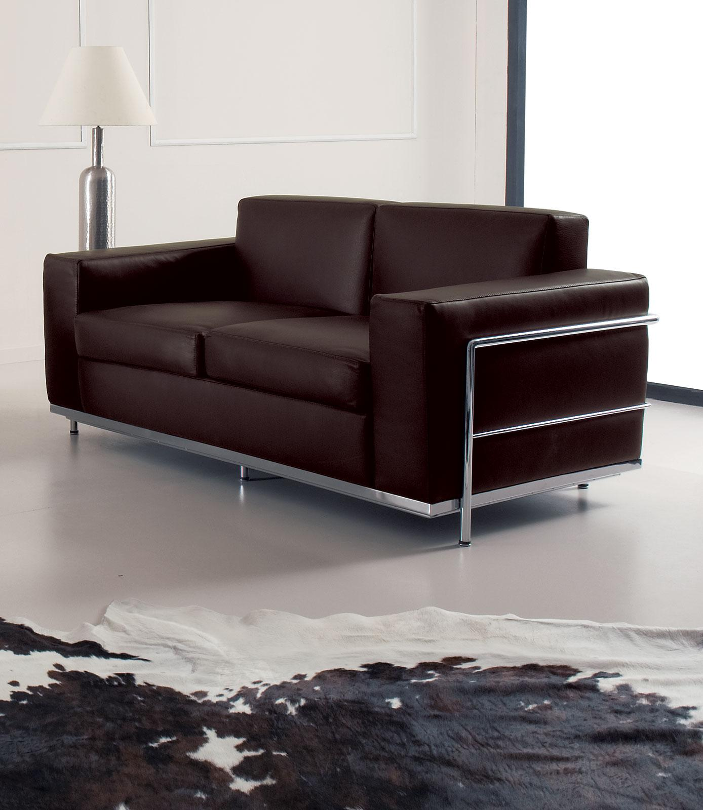 Cook 2 Seater Modern Leather Sofa