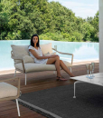 2 seats outdoor sofa. A pretty love seat for your garden. Complete your outdoor lounge with the best Italian furniture. Online shopping. Free home delivery.