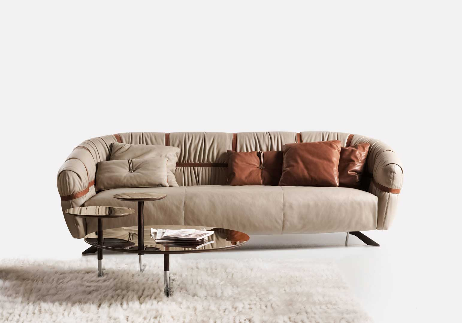 Divano In Pelle Made In Italy.Crossover Asymmetrical Leather Sofa Shop Online