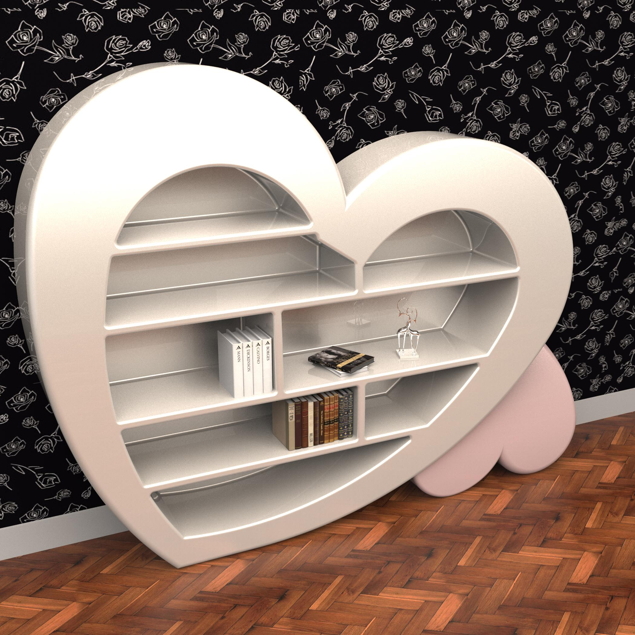 Cuore libreria italy dream design for Librerie mobili offerte