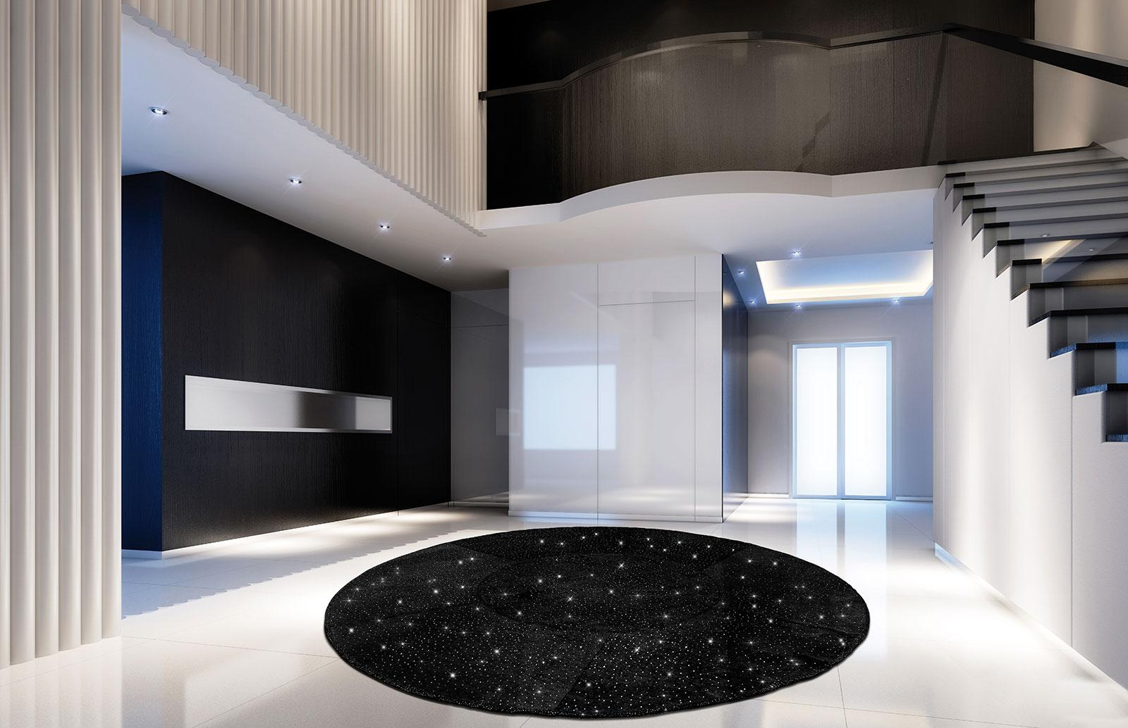 Giotto diamond tapis rond idd for Tapis italien design