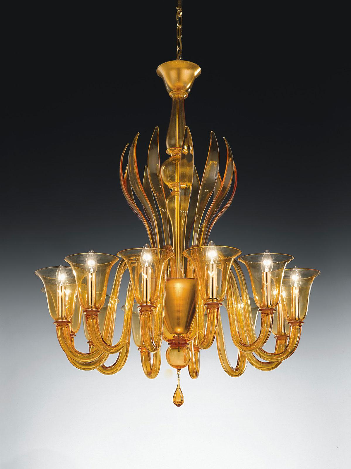 Doge 12 L Murano Glass Pendant Light Idd