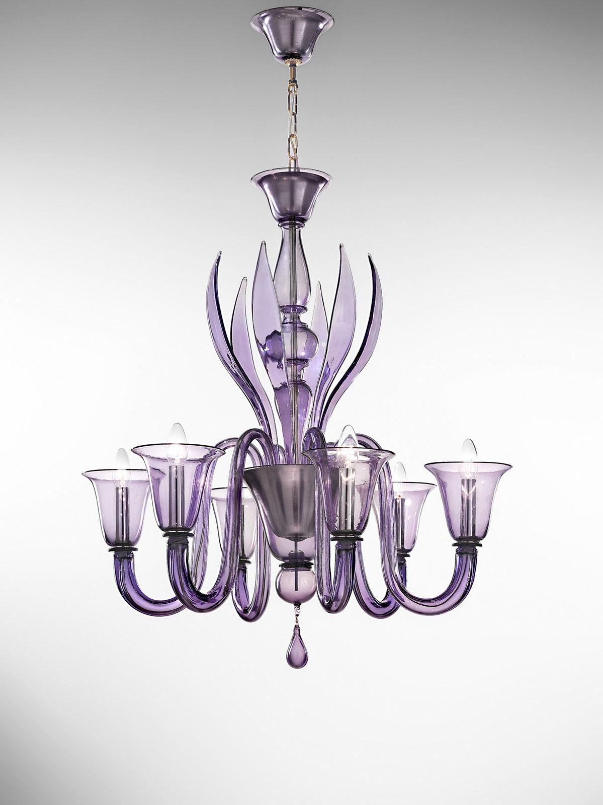 doge 6 l murano glass pendant light idd. Black Bedroom Furniture Sets. Home Design Ideas