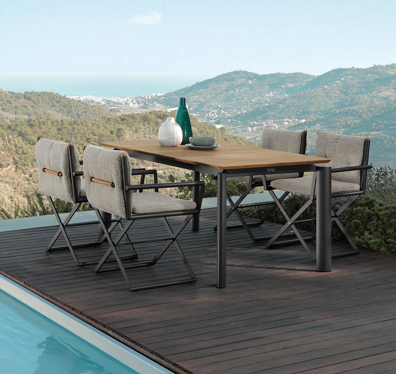 Mobili Da Giardino Di Design.Dominus Tavolo Da Pranzo Da Esterno Allungabile Italy Dream Design