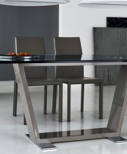 tavolo fisso legno laccato vetro temperato arredamento casa / ufficio on line moderno di lusso 2015 design inspiration web made in italy