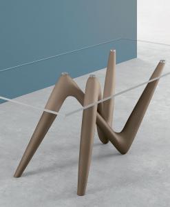tavolo rettangolare fisso vetro arredamento casa ufficio on line moderno lusso design inspiration web made in italy temperato cristallo trasparente prezzi