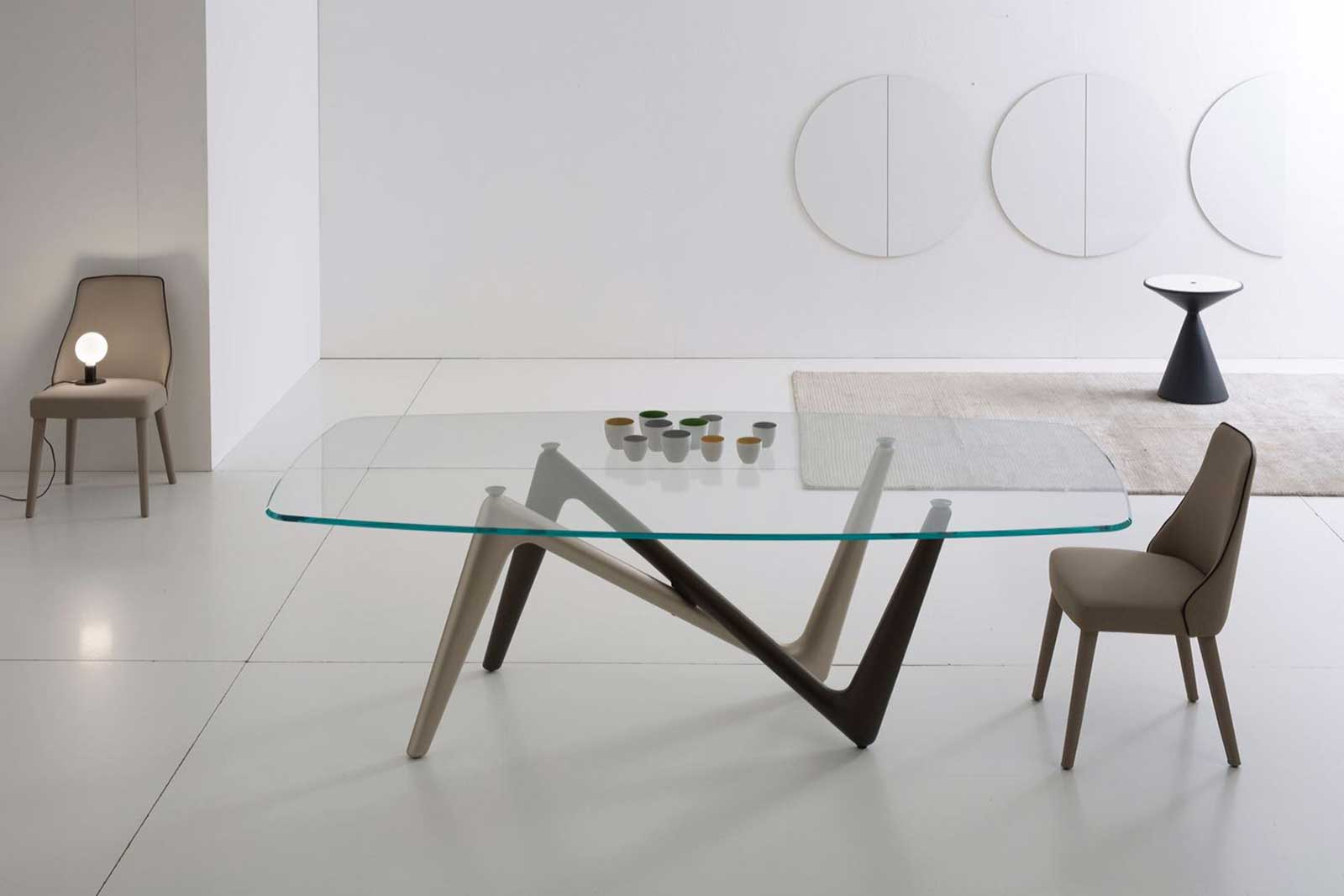 Edge tavolo rettangolare bronzo titanio italy dream design for Tavolo rettangolare design