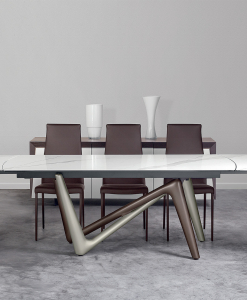 Extensible ceramic rectangular table with original legs. Design made in italy signed by Andrea Lucatello. Buy online our luxury furniture made in italy.